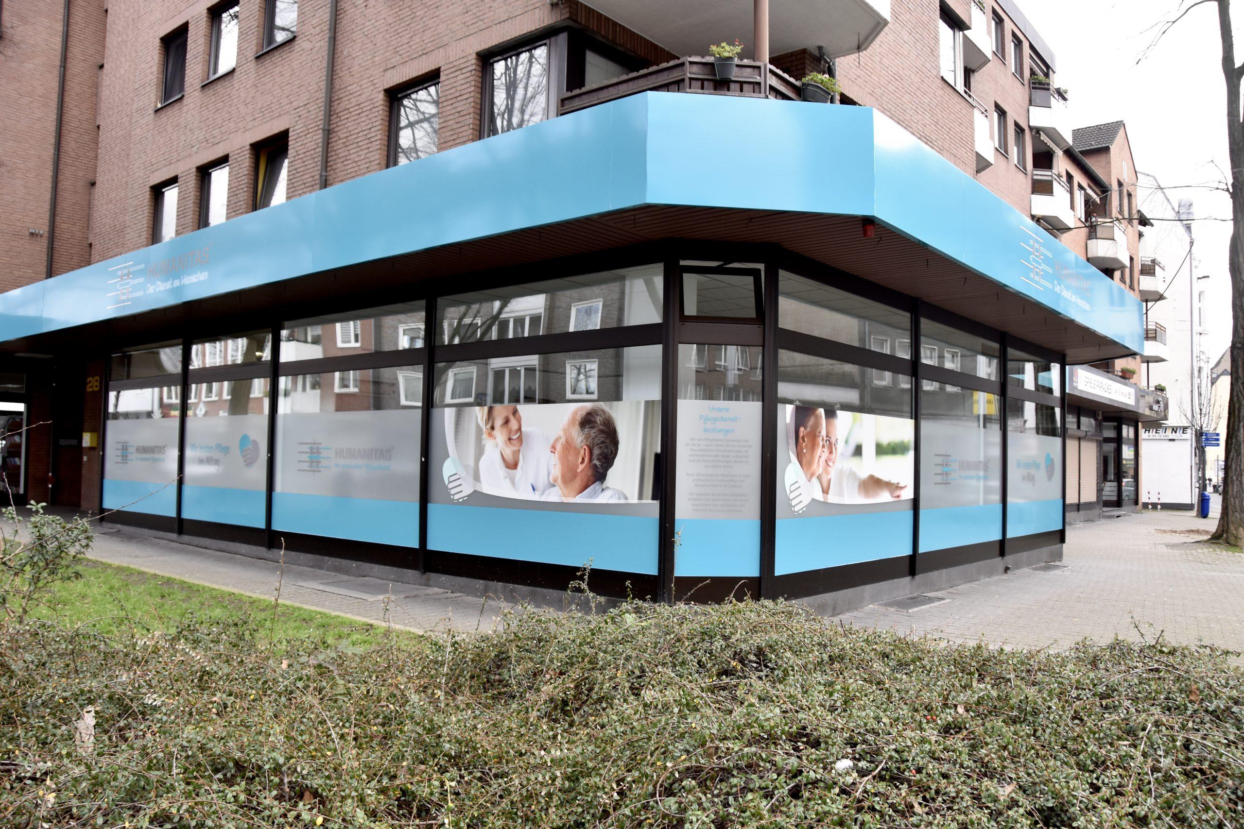 Humanitas Tagespflege Gelsenkirchen Außenansicht Ecke